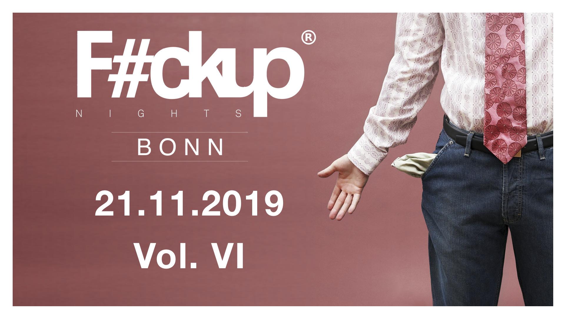 Veranstaltungsheader FuckUp Nights Bonn Vol. 6